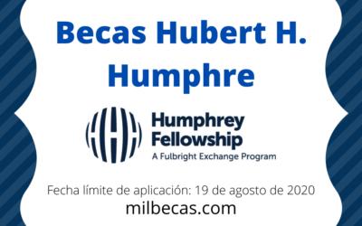 Becas Hubert H. Humphrey para Desarrollo Profesional
