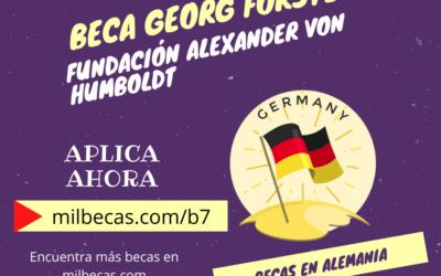 Beca Georg Forster para proyectos de investigación en Alemania
