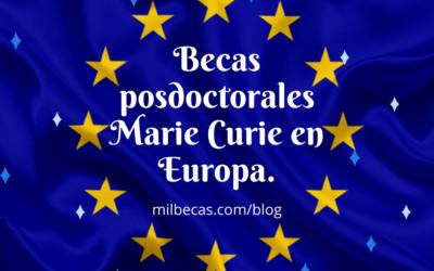 Becas posdoctorales Marie Curie
